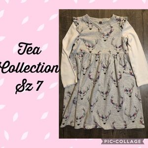 EUC Tea Collection Oh Deer layered Henley dress 7